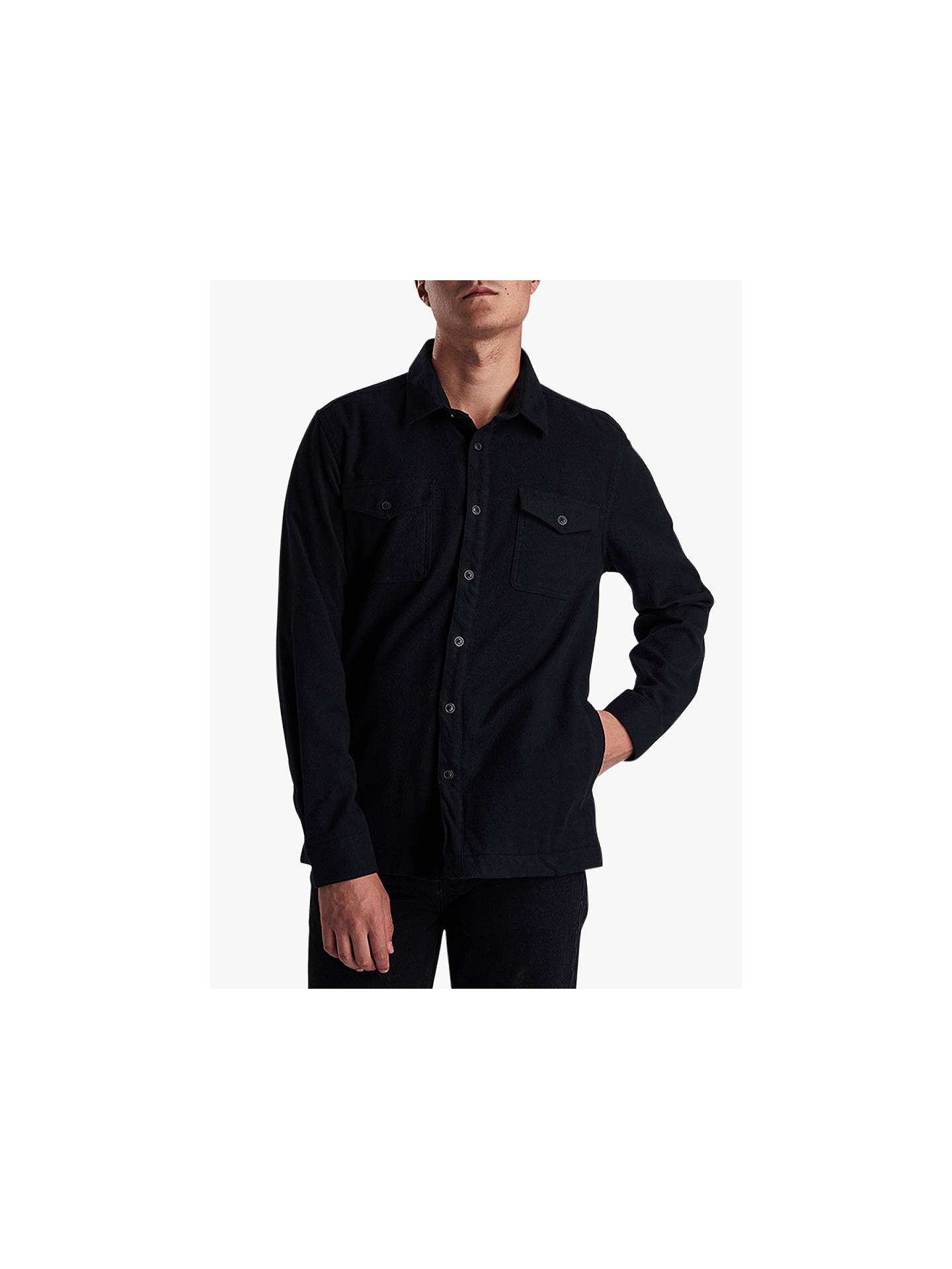 Barbour International Skipton Long Sleeve Shirt, Black at
