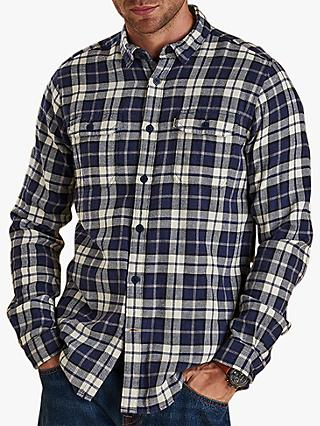 Barbour Delmar Long Sleeve Check Shirt, Electric Blue