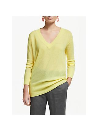 John Lewis & Partners Relaxed V Neck Cashmere Jumper