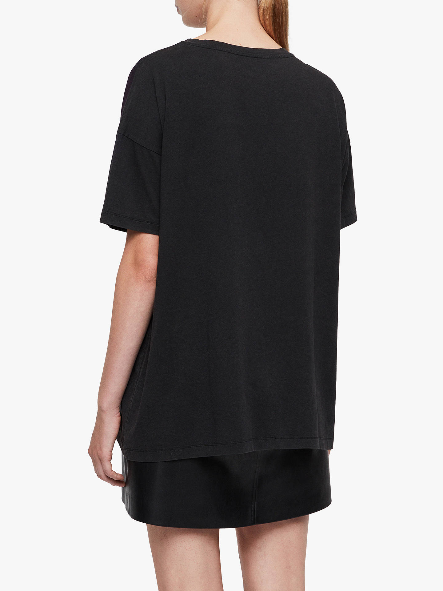 Buy AllSaints Celestial Cori T-Shirt, Black, XS-S Online at johnlewis.com