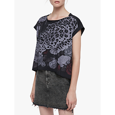 AllSaints Asha Pina T-Shirt, Dark Night Blue