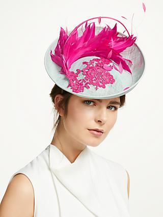 65fbdf995cdd5 Vivien Millinery Sophie Floral Lace Disc Occasion Hat