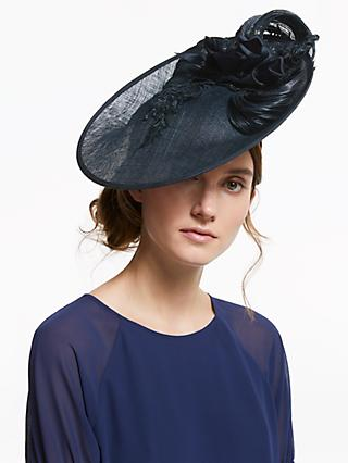 54488c7055c81 Vixen Millinery Celine Floral Lace and Loop Disc Occasion Hat
