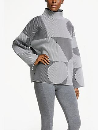 PATTERNITY + John Lewis Oversize Stripe Jumper, Black/White