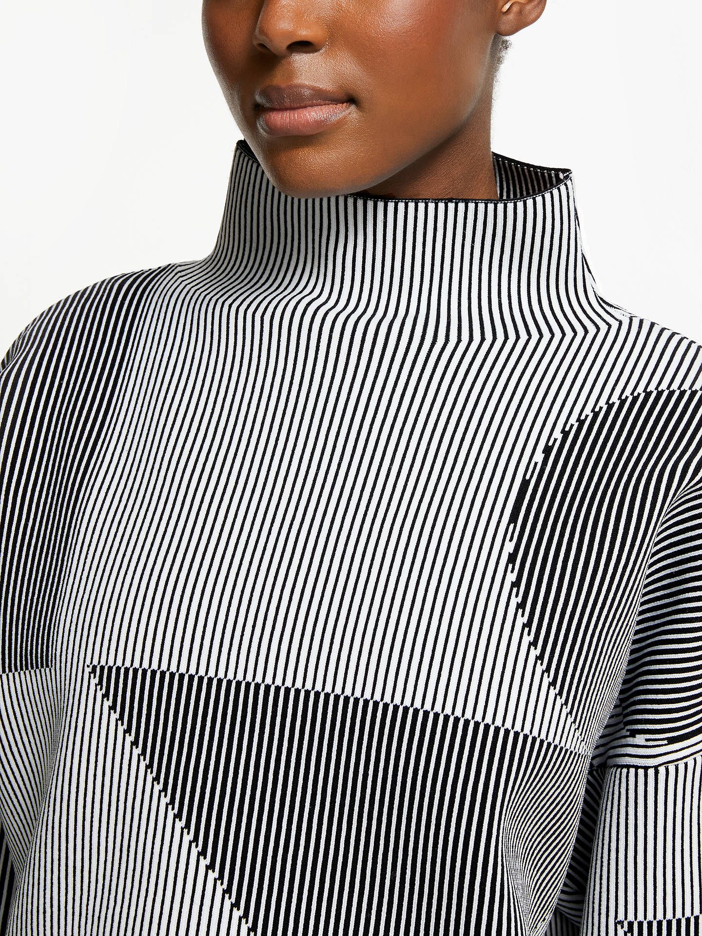 BuyPATTERNITY + John Lewis Oversize Stripe Jumper, Black/White, M Online at johnlewis.com