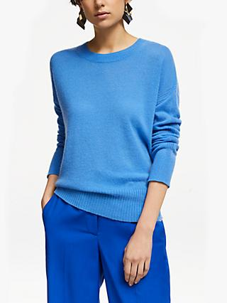John Lewis & Partners Cashmere Elliptical Crew Neck Sweater