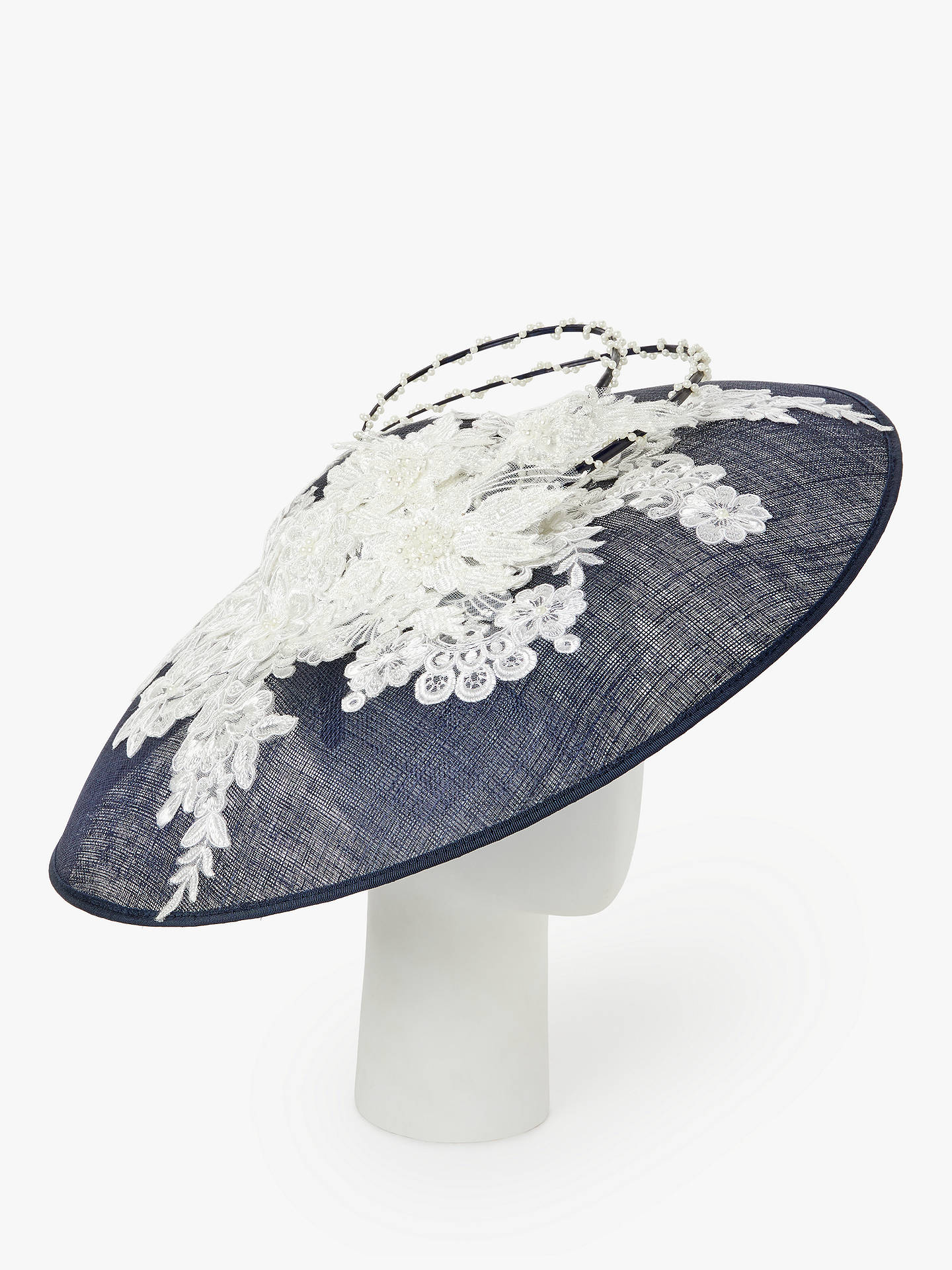 638f30ef775b4 ... Buy Snoxells Lily Flower Embroidery Faux Pearl Disc Occasion Hat