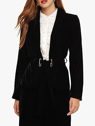 Phase Eight Kendra Velvet Jacket, Black