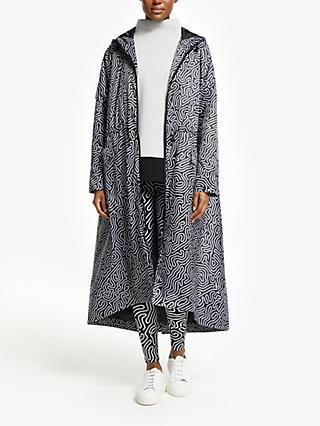 PATTERNITY + John Lewis Rituals Abstract Print Parka, Black/White