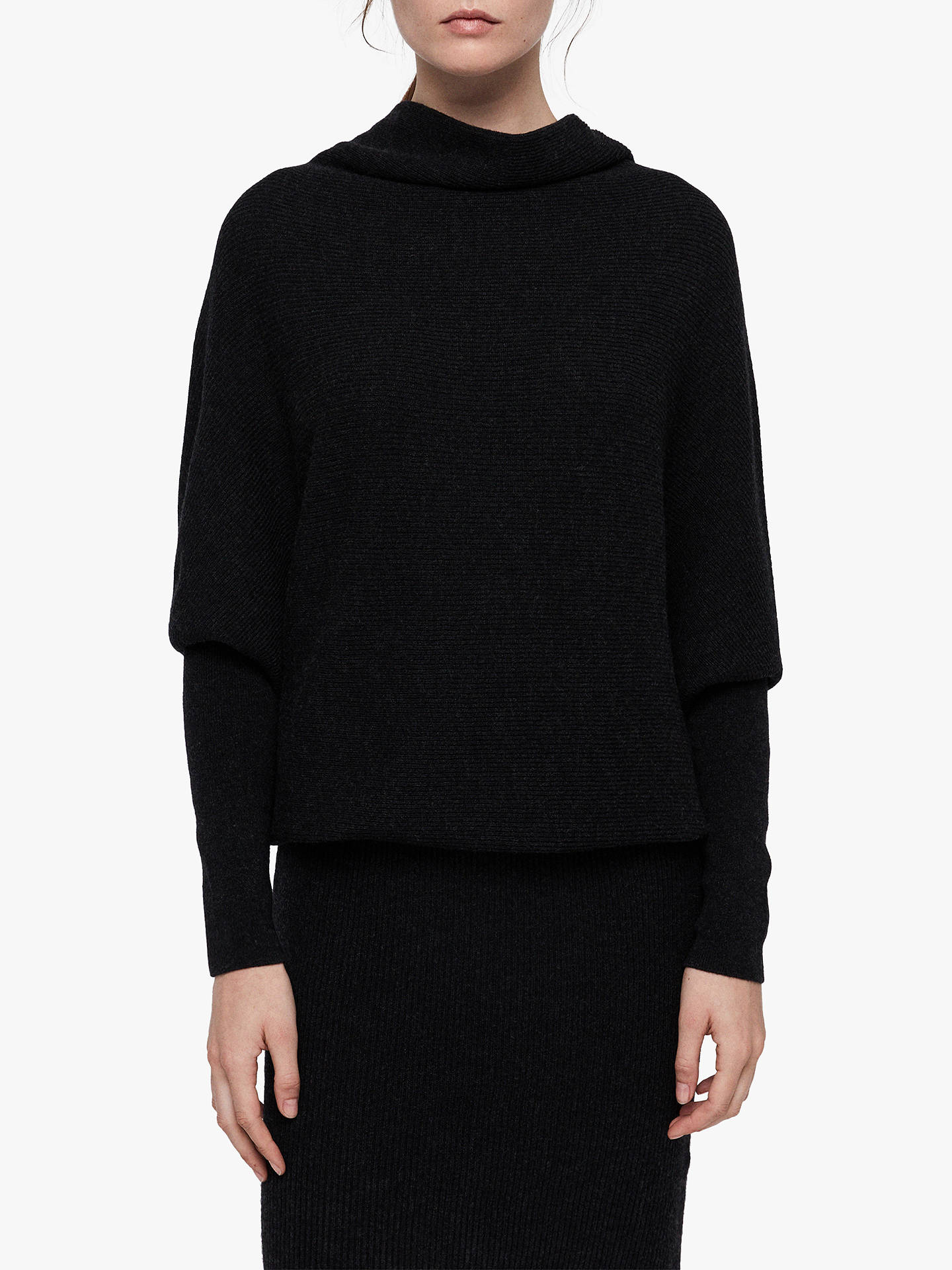 BuyAllSaints Ridley Dress, Cinder Black Marl, S Online at johnlewis.com