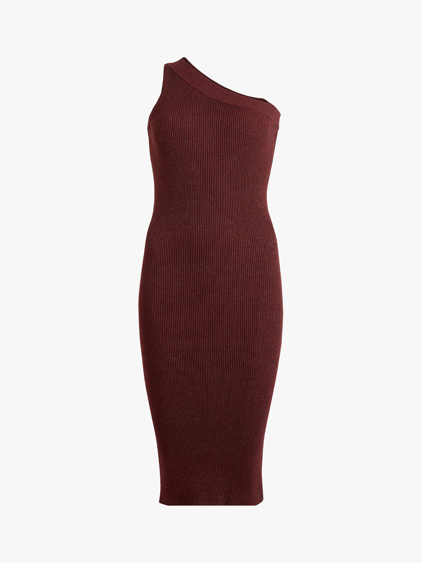 Buy AllSaints Chelle Knitted Dress, Bordeaux Red Twist, L Online at johnlewis.com