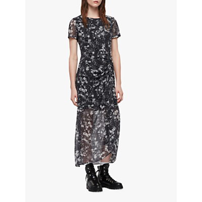 AllSaints Ariya Lisk Floral Dress, Black