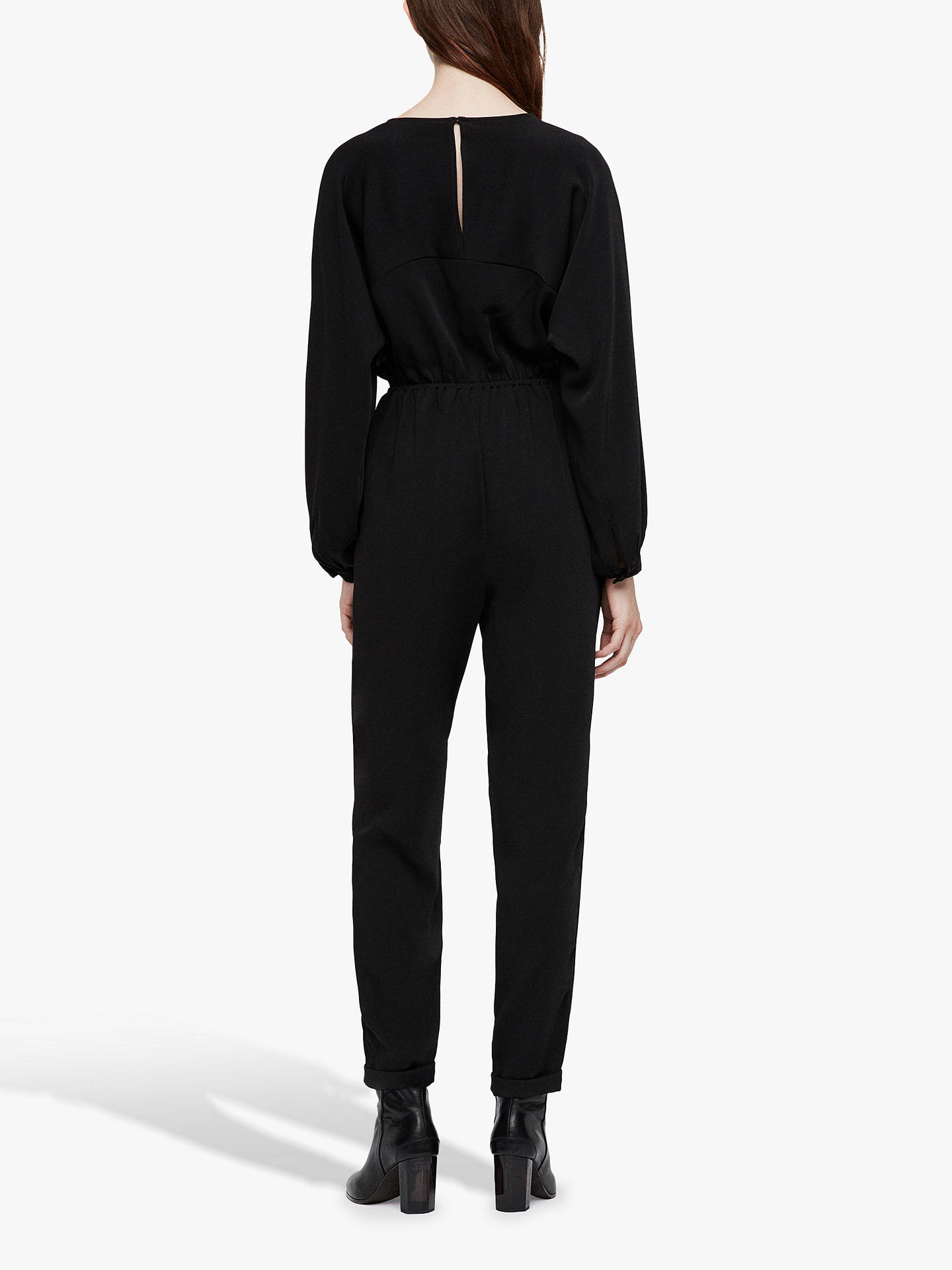 Buy AllSaints Molli Batwing Jumpsuit, Black, 10 Online at johnlewis.com