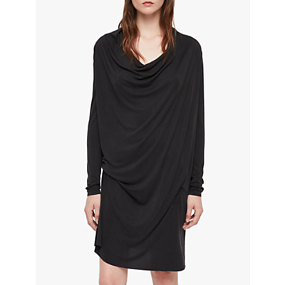AllSaints Amei Long Sleeve Tunic Dress, Black