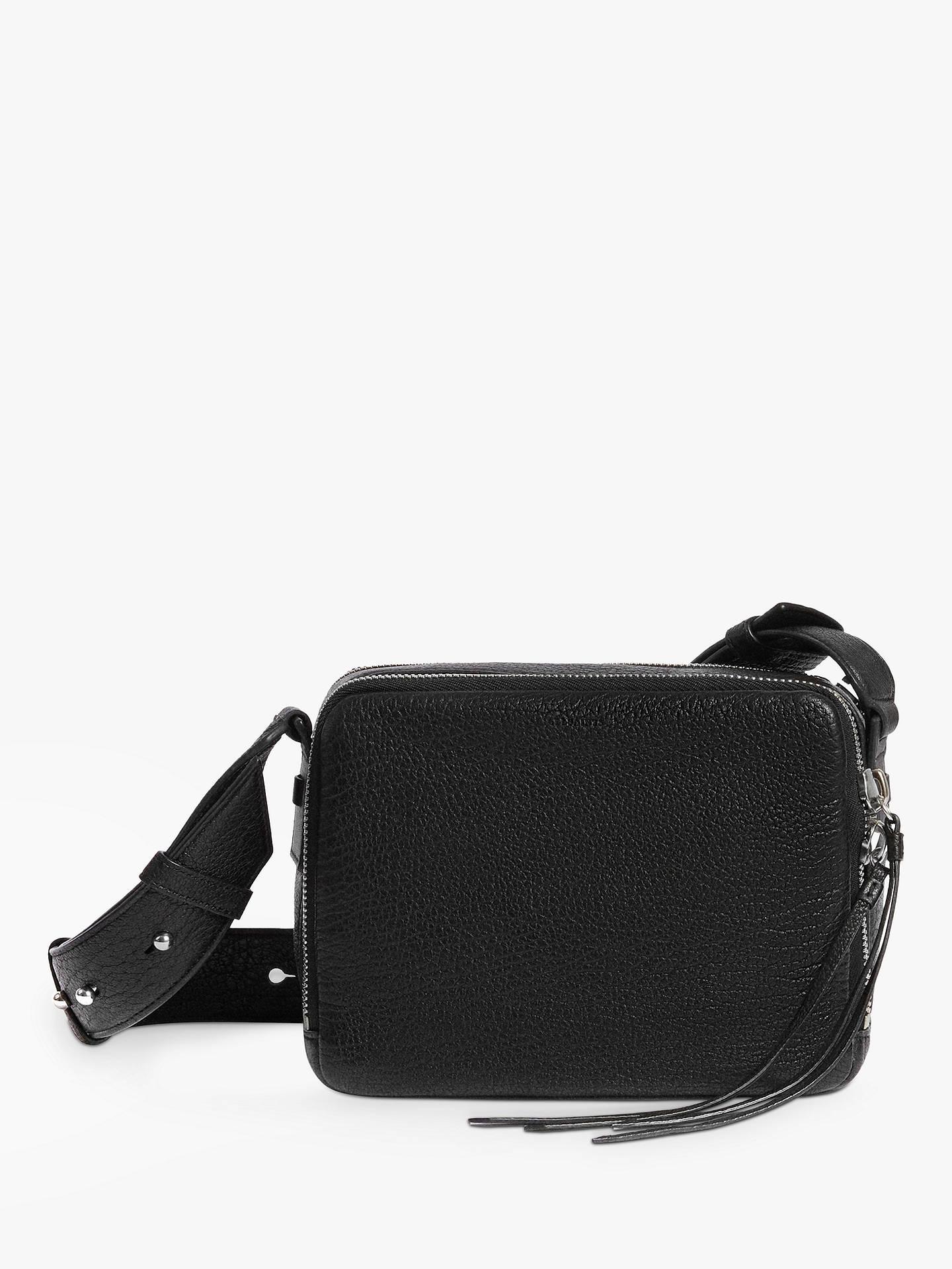 meticulous dyeing processes Sales promotion online sale AllSaints Vincent Leather Cross Body Bag, Black
