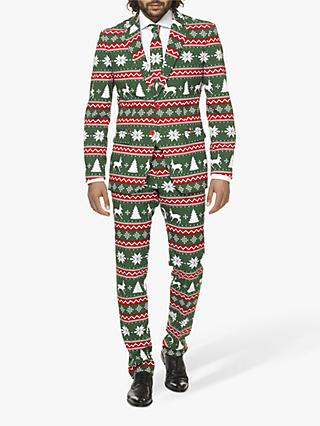 OppoSuits Men's Festive Green Suit, Green / Multi
