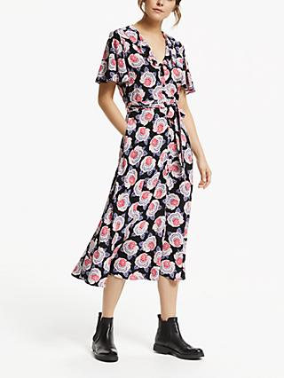 Somerset by Alice Temperley Tie Waist Button Dress, Black Base