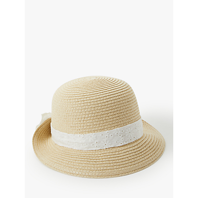 John Lewis & Partners Baby's Straw Hat, Natural