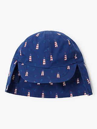 John Lewis & Partners Baby Lighthouse Keppi Hat, Navy