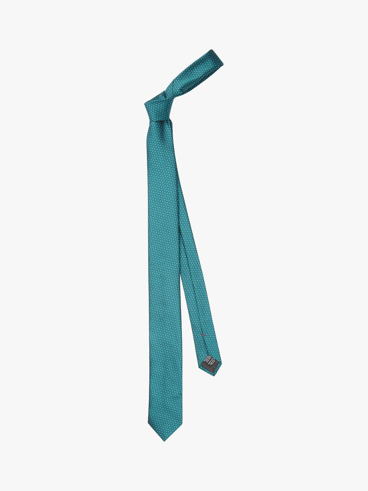 9a0b18edce Buy HUGO by Hugo Boss Jacquard Micro Pattern Silk Tie, Green Online at  johnlewis.
