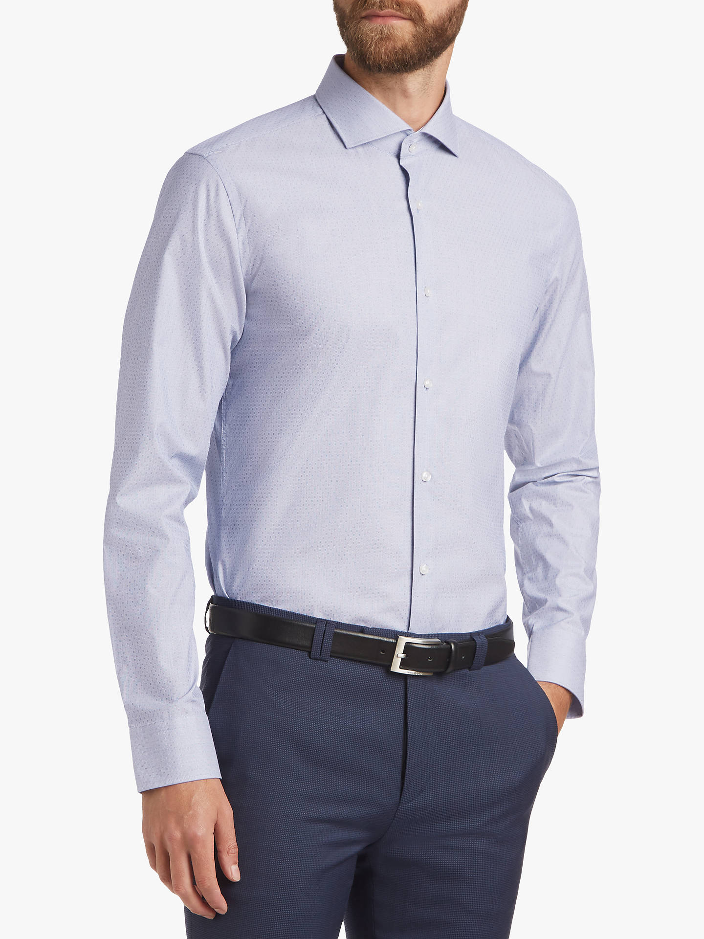 283202264a9 Buy HUGO by Hugo Boss Stretch Dobby Fine Stripe Slim Fit Shirt