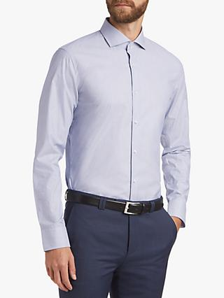 HUGO by Hugo Boss Stretch Dobby Fine Stripe Slim Fit Shirt, Navy