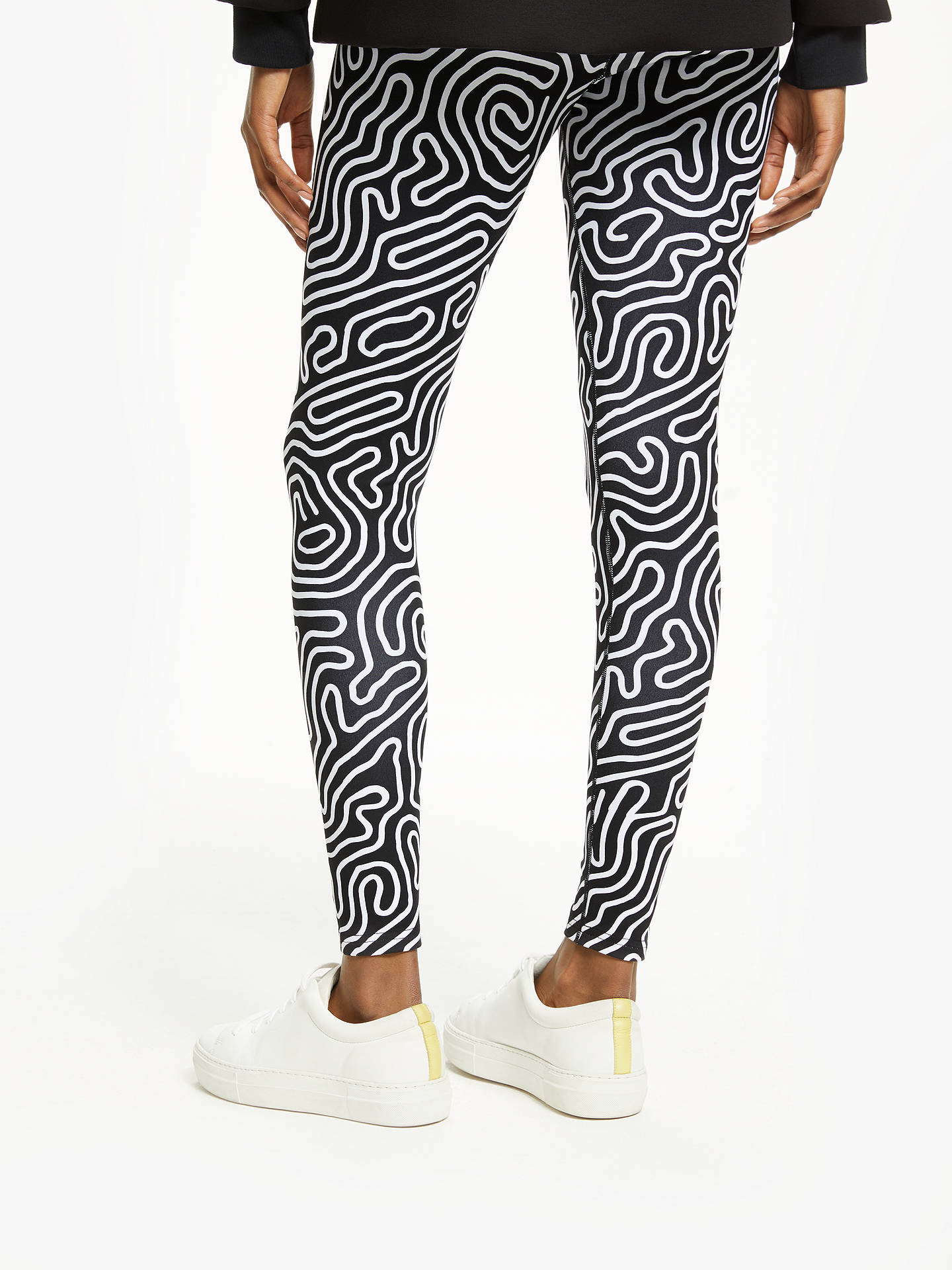 BuyPATTERNITY + John Lewis Rituals Print Leggings, Black/White, M Online at johnlewis.com