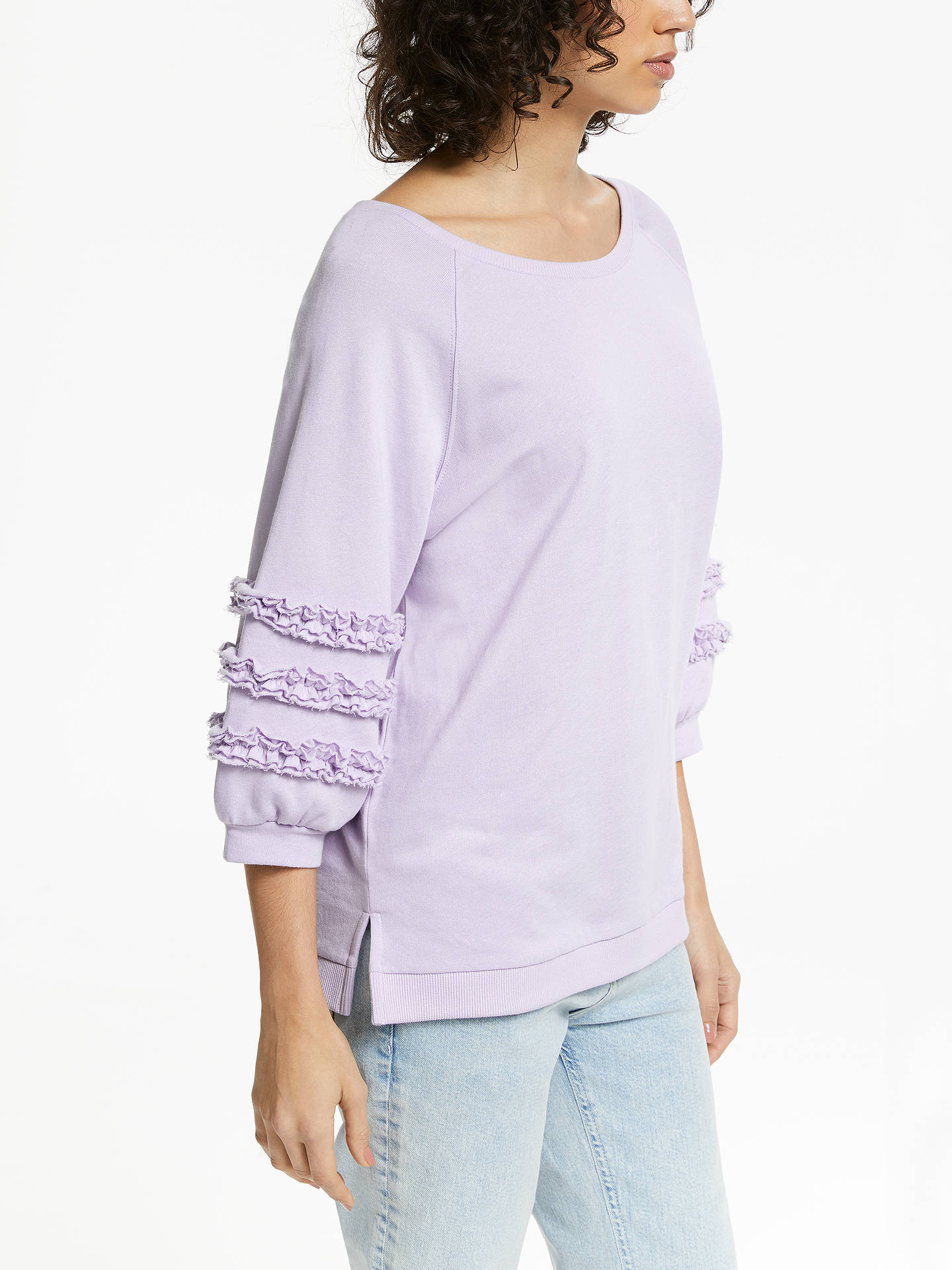BuyAND/OR Lana Frill Sweat Top, Soft Lilac, 8 Online at johnlewis.com