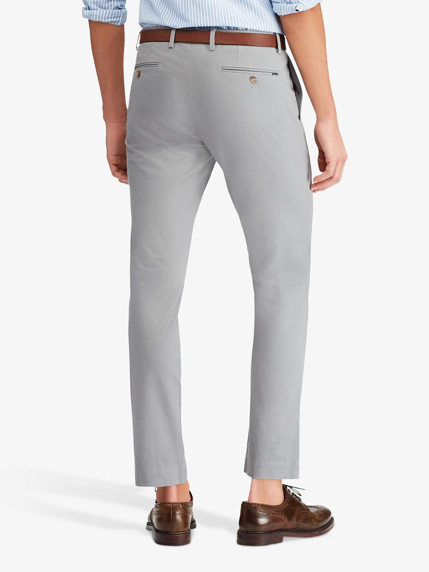 2018 sneakers exquisite design good out x Polo Ralph Lauren Flat Pant Slim Chino, Museum Grey at John ...
