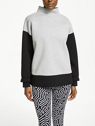 PATTERNITY + John Lewis Colour Block Scuba Sweatshirt, Grey/Black