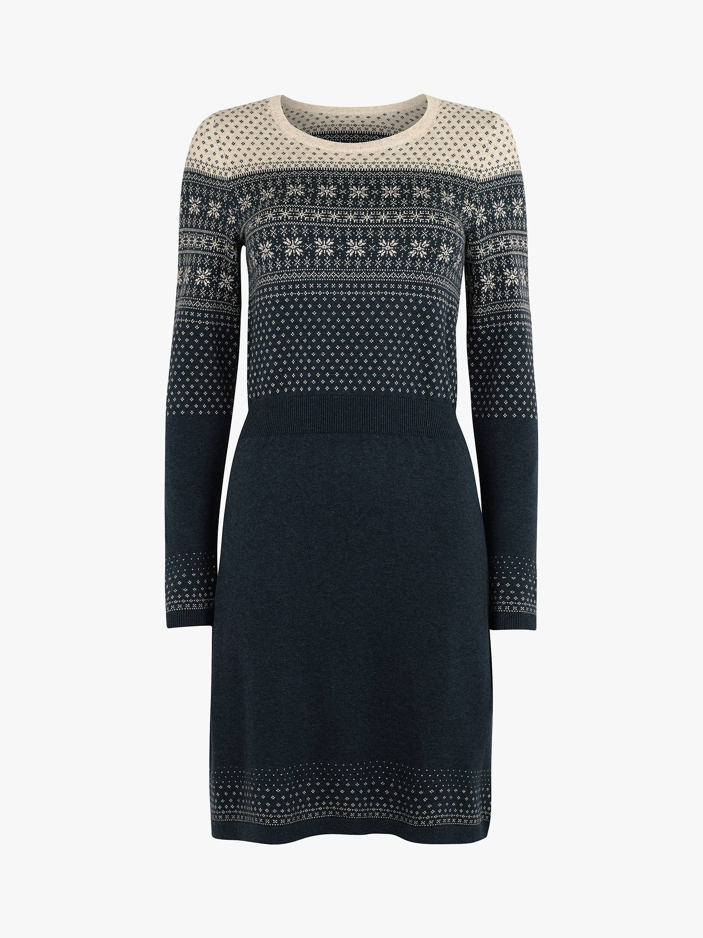 Fat Face Fair Isle Jumper Dress Blue At John Lewis Amp Partners