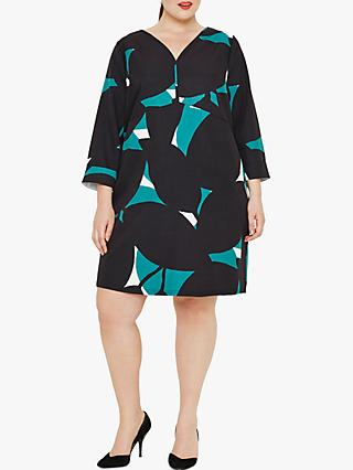 Studio 8 Vanessa Geometric Print Dress, Green Multi