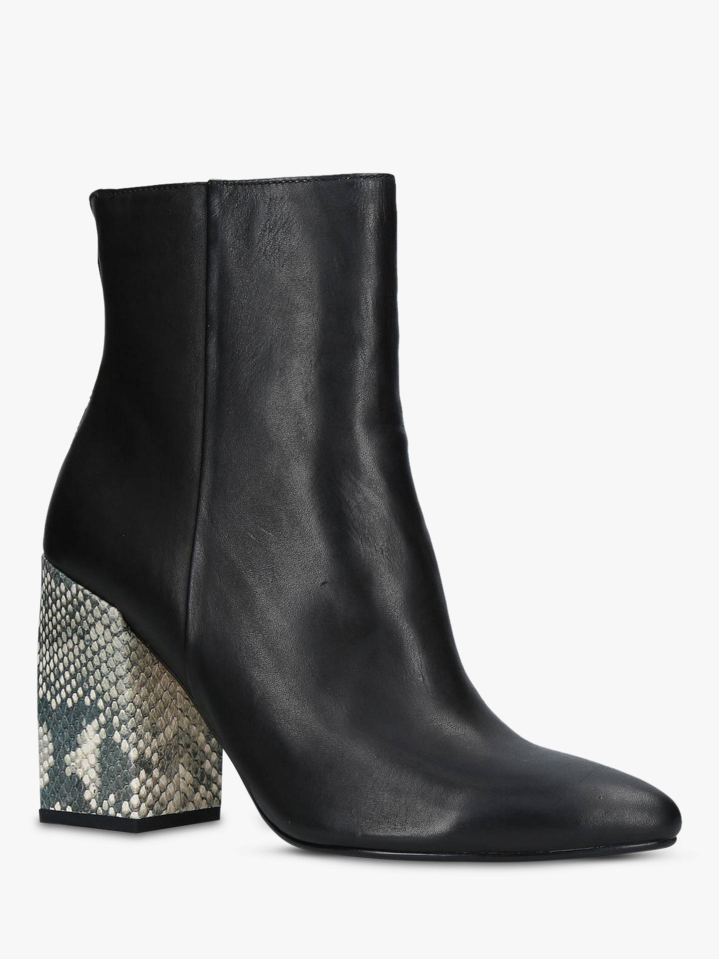 92f65b39dd1 Dolce Vita Coby Block Heel Ankle Boots, Black Leather at John Lewis ...