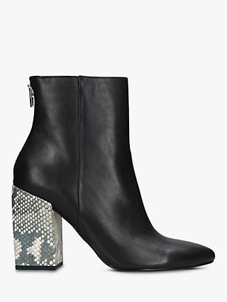 Dolce Vita Coby Block Heel Ankle Boots, Black Leather