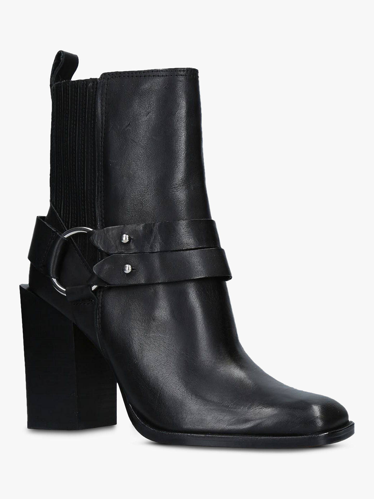 61d888df6eb2e Buy Dolce Vita Isara Block Heel Ankle Boots, Black Leather, 3.5 Online at  johnlewis ...