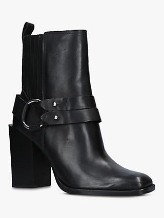 Dolce Vita Isara Block Heel Ankle Boots, Black Leather