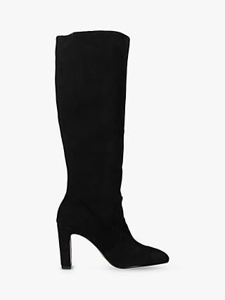Dolce Vita Coop Knee High Boots, Black Suede