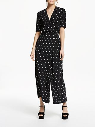 Somerset by Alice Temperley Star Print Jumpsuit, Black/Ecru