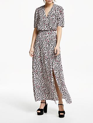 Somerset by Alice Temperley Leopard Print Maxi Dress, Nude