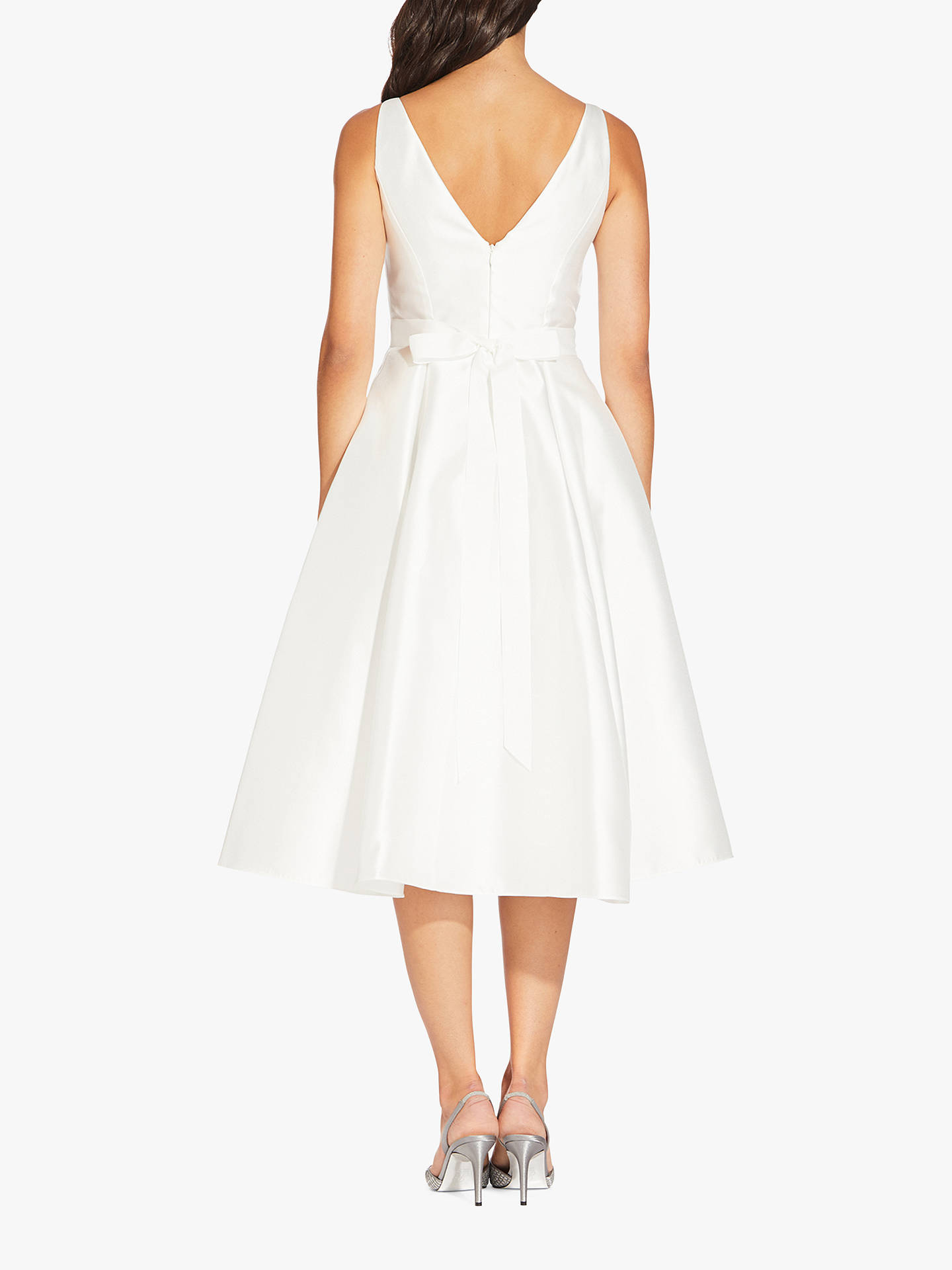 BuyAdrianna Papell Mikado Party Dress, Ivory, 6 Online at johnlewis.com