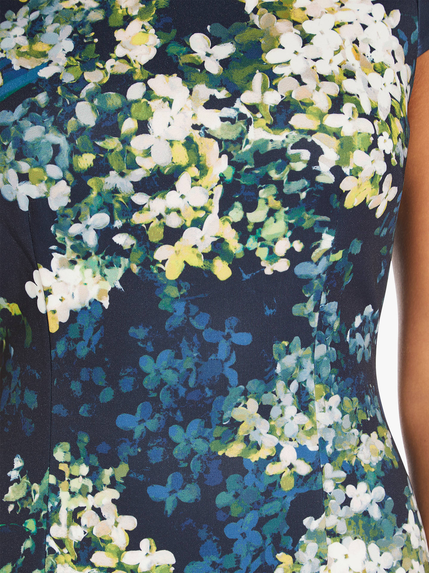 Buy Adrianna Papell Peaceful Hydrangeas Sheath Dress, Navy/Multi, 8 Online at johnlewis.com