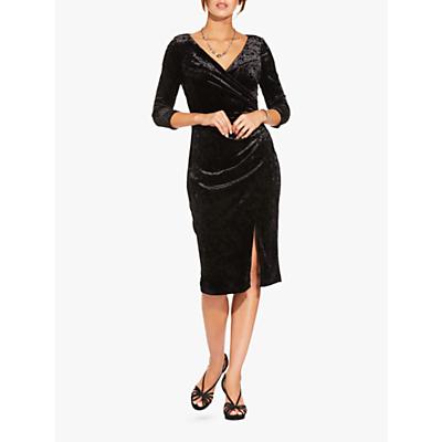 Adrianna Papell Short Velvet Dress, Black