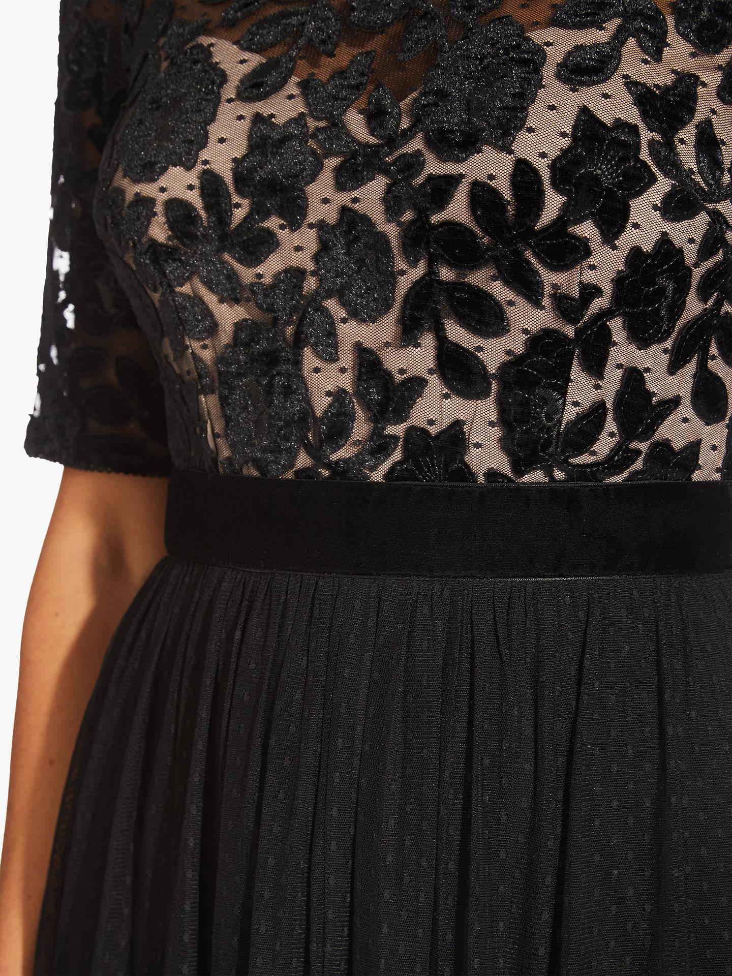 Buy Adrianna Papell Velvet Tulle Dress, Black/Rose Gold, 6 Online at johnlewis.com