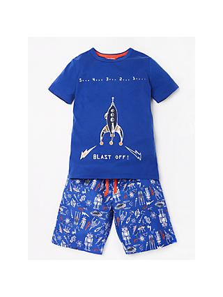 Minijammies Boys' Spaceship Take Off Jersey Pyjamas, Blue