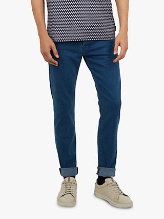 Ted Baker Talma Tapered Jeans, Blue Denim