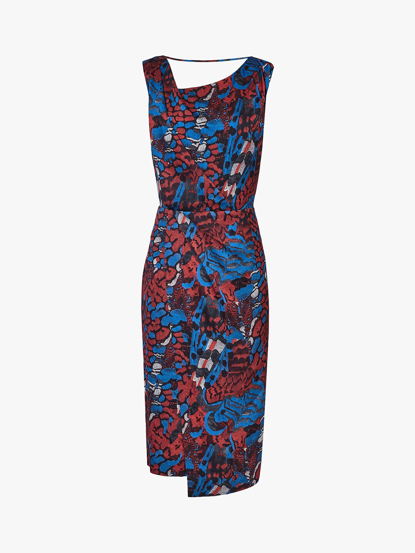 Buy Reiss Diona Feather Cross Back Dress, Multi, 6 Online at johnlewis.com