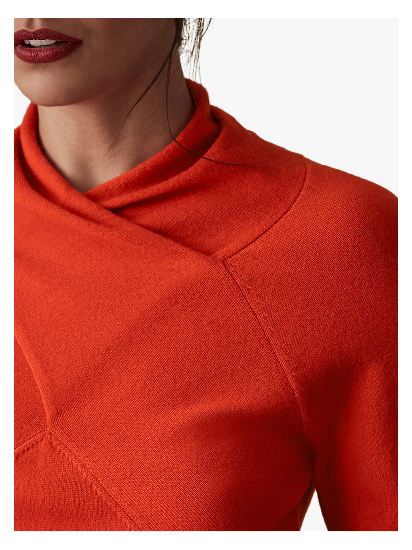 Buy Reiss Torah-Twist Neck Top, Red, XS Online at johnlewis.com