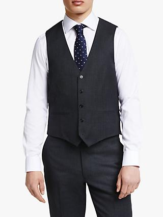 John Lewis & Partners Regular Fit Birdseye Waistcoat, Charcoal