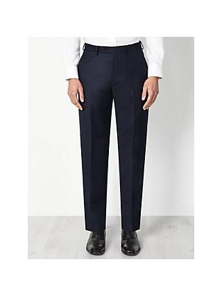 John Lewis & Partners Birdseye Wool Regular Fit Suit Trousers, Navy