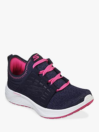 Skechers Children's Skyline Trainers, Navy/Hot Pink